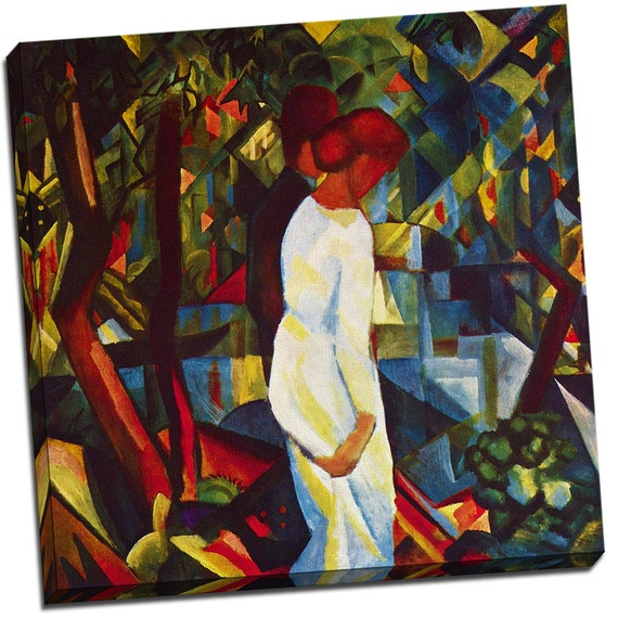 Couple in the Forest  | Auguste Macke Mirror Wrapped Canvas