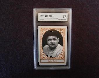 BABE RUTH Baseball Card 1980 TCMA Gem Mint 10.0