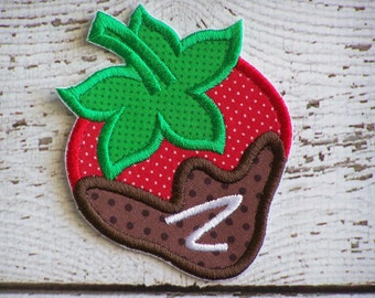 Chocolate Covered Strawberry Iron On Or Sew On Embroidered Applique