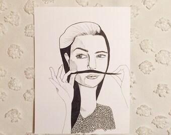 Original Illustration: She's a Lady