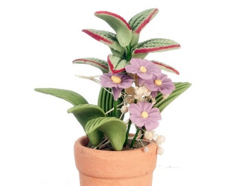 DOLLHOUSE MINIATURE 1:12 Scale Flowers In Pot #RP0168-RP0360-RP0927-RP1209-RP1211