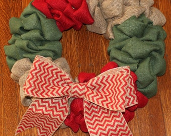 Simply Chic Christmas/Holiday Colorblocked Wreath
