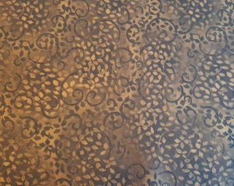 Brown & Beige print fabric Compliments Grace Pullen for South Sea Imports. Sold by 1/2 yard