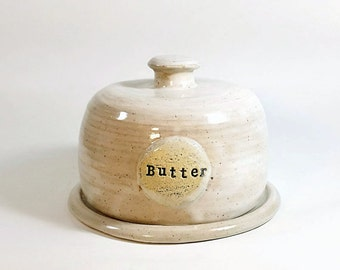Butter Dish-Farmhouse-Pottery Butter Dish-Kitchen-Pottery-Dish