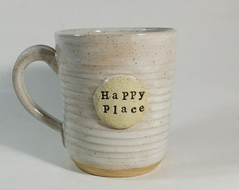 Happy Place Mug-Pottery-Coffee Mug