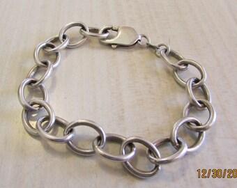 """Sterling Silver Large Link Bracelet 7 3/4"""""""