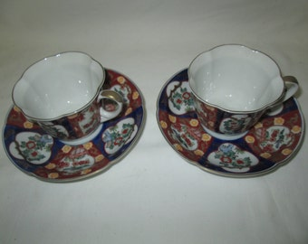 Vintage Japanese Imari Tea cup and saucer pair
