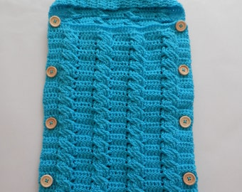 Printed pattern for the Crochet Cable stitch Newborn Cocoon/Sleep sack