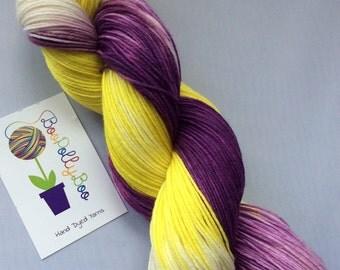 100g hand dyed superwash merino nylon 4ply 425m