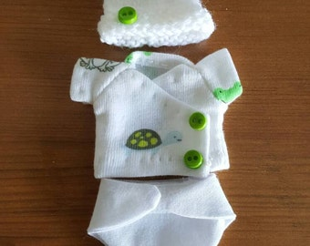 Diaper set for 4-5 inch baby