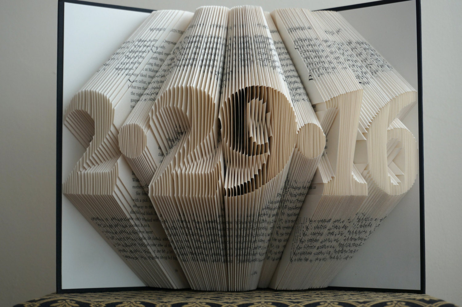 Novel Wedding Gifts: Folded Book Art Anniversary Gift 1st Wedding Anniversary