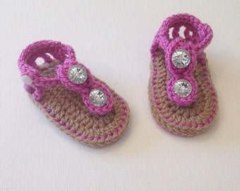 Crochet baby sandals, Baby shoes, Baby girl sandals, Gladiator sandals, Ready to Ship