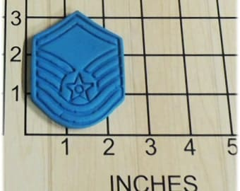 US Air Force Master Sergeant Cookie Fondant Cutter and Stamp #1058