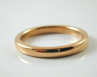 22CT Gold Wedding Band/ Ring P 1/2 5.42 grams D shap Made in 1941