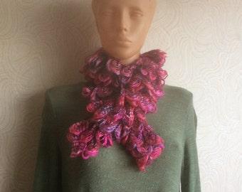 Knit Ruffled Scarf, Wonderful Christmas gift