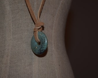 Chocker Necklace- Turquoise on Suede