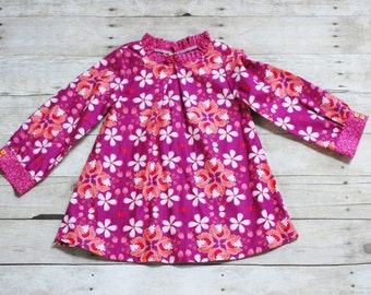 Girls tunic, girls fall tunic, girls top, girls fall top, Girls top, size 6, size 7