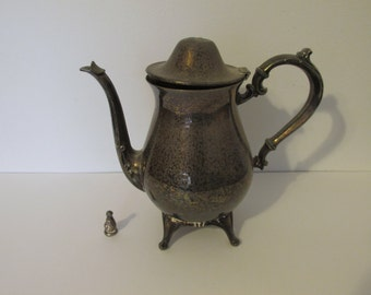 Vintage WM A Rogers Unpolished Footed Teapot