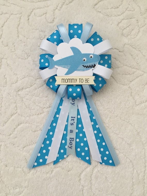 mommy to be ribbon corsage for baby shower it 39 s a boy under the