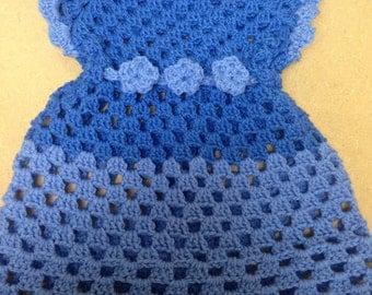 Crochet two tone dress
