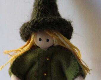 green elf doll