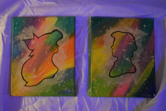 2 separate Original Hand made Acrylic Paintings on cotton Canvas