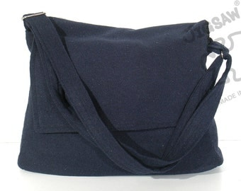 Messenger bag Navy blue bag Crossbody bag Sling purse Shoulder Bag Tote