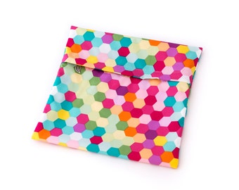 Cloth Pads Wetbag - Hexagons