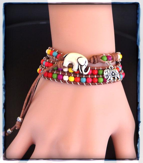Rainbow Bracelet on Etsy