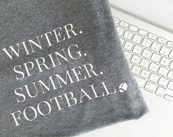 Winter Spring Summer Football Tee