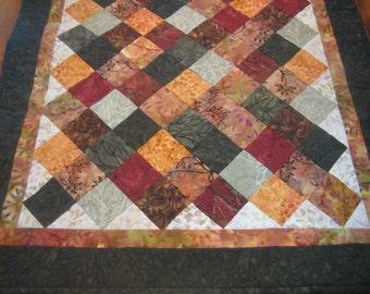 Harvest Batik Quilted Table Runner