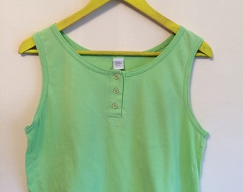 SALE 90s lime green cropped tank