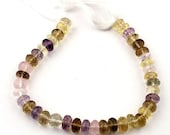 XMAS SALE 1 Strand Excellent Quality Multi Stone Faceted Rondelles - Mix Stone Roundles Beads 8mm-9mm  7.5 Inches SB1575