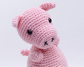 Items similar to Kawaii Pig Cube Plush Keychain soft toy ...