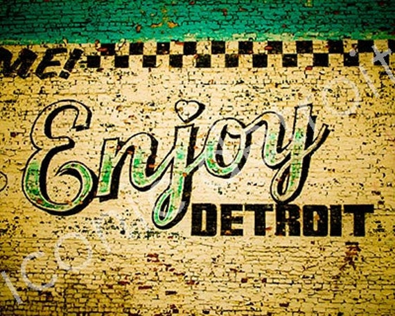 Enjoy Detroit Mural Of Detroit Photography Enjoy Detroit Mural Iconic Detroit