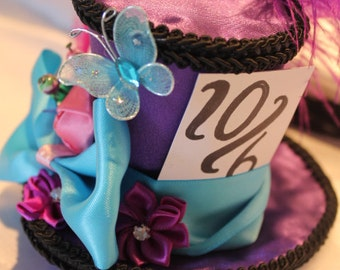 Mad Hatter  Mini Top Hat Fascinator