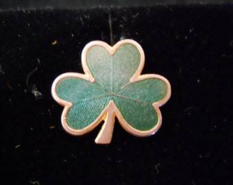"VINTAGE HALLMARK -  ""St. Patrick Day's Clover"" Pin / Broach"
