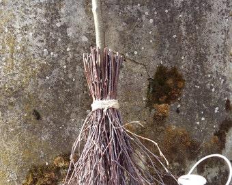 witches broom wiccan besom birch twigs magick altar cleansing rustic wedding pagan ritual sabbat broom small handbroom handmade broomstick