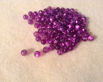 6 mm purple/pink glass beads