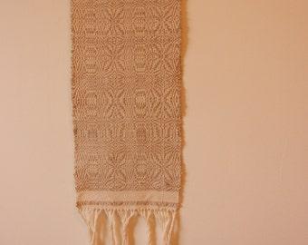 An Elegant Cotton-Linen Wallhanging