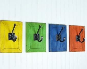 Colorful Wall Art Decorative Wall Hooks Rainbow Decor Kids Bedroom Hooks  Rainbow Nursery Bathroom Hooks Kitchen