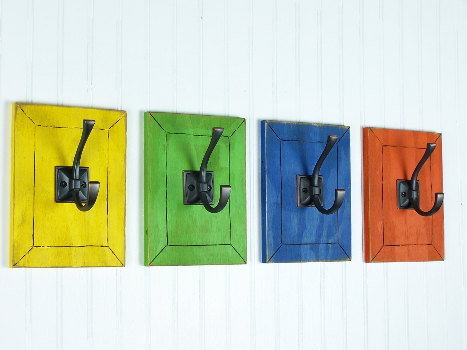 Colorful wall art decorative wall hooks rainbow decor kids - Kids decorative wall hooks ...
