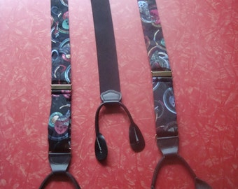 Vintage 80's Suspenders Made in England