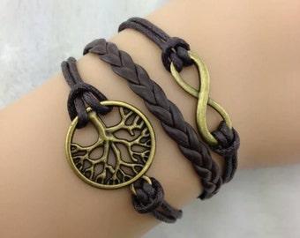Infinity Bracelet/Tree of Life Bracelet/Once Upon a Time Bracelet/Charm Bracelet/Leather Bracelet/Bronze Bracelet/Apple Tree Bracelet/Regina