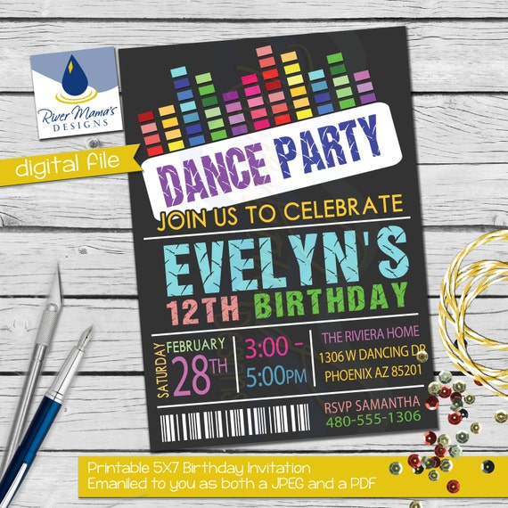 dance party invitations printable free wwwimgkidcom