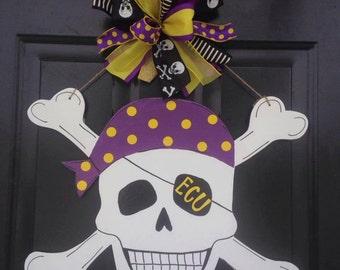 Skull and Crossbones Door Hanger