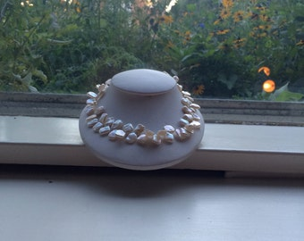 White Keishi Freshwater Pearl Necklace
