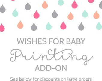 Printing Add-On for Wishes for the Baby Cards and Sign
