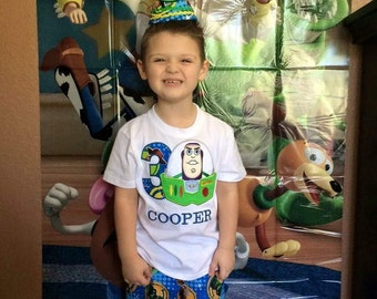 Buzz Light Year Birthday Outfit, Toy Story Birthday Outfit,  Woody Birthday Outfit