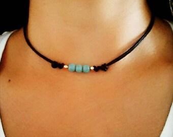Turquoise Choker, Turquoise Necklace, Boho Choker Necklace, Bohemian Choker, Boho Choker, Beaded Choker, Bohemian Jewelry, Turquoise Jewelry